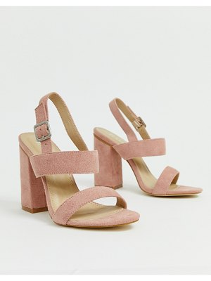Raid shania blush block heeled sandals