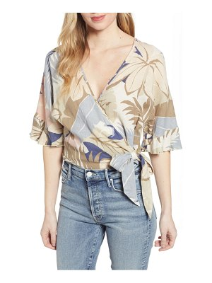 Rails athena crop wrap blouse