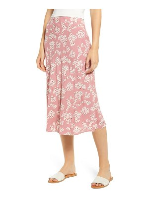 Rails london print midi skirt