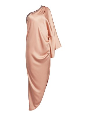Ralph and Russo embellished silk satin draped gown