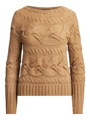 Ralph Lauren Collection aran horizontal cable knit sweater