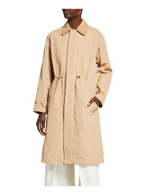 Ralph Lauren Collection Brecklin Suede-Trim Balmacaan Coat