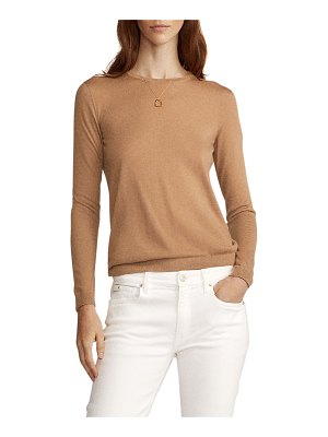 Ralph Lauren Collection Crewneck Long-Sleeve Cashmere Jersey Top