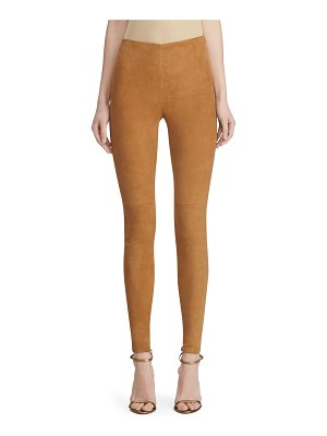 Ralph Lauren Collection Eleanora Suede Skinny Pants