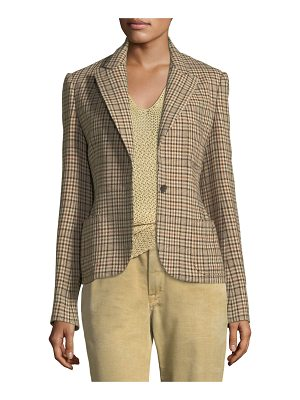 Ralph Lauren Collection Filmore Overcheck Wool-Blend Jacket