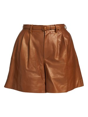 Ralph Lauren Collection glenn leather shorts