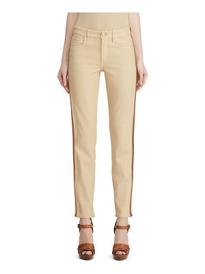 Ralph Lauren Collection Leather Tux-Striped Jeans