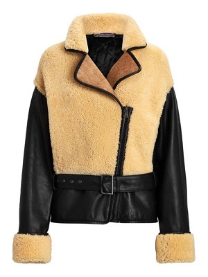 Ralph Lauren Collection richie leather & shearling coat