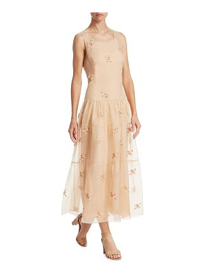 RALPH LAUREN COLLECTION Trinity Embroidered Dress