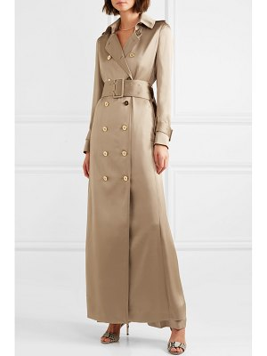 Ralph & Russo double-breasted silk-satin trench coat