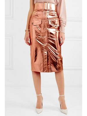Ralph & Russo metallic coated silk-blend midi skirt