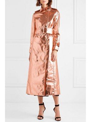 Ralph & Russo metallic coated silk-blend trench coat