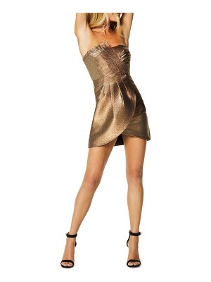 Ramy Brook Avril Strapless Metallic Cocktail Dress