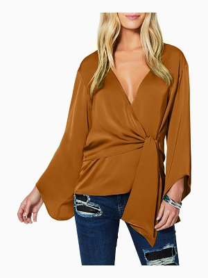 Ramy Brook Cassandra Long-Sleeve Tie-Front Blouse