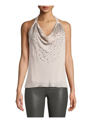 Ramy Brook Coley Embellished Halter Top