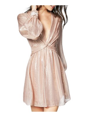 Ramy Brook Elsie Plunging Metallic Short Dress