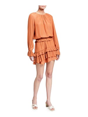 Ramy Brook Evelynn Gathered Tiered Mini Dress