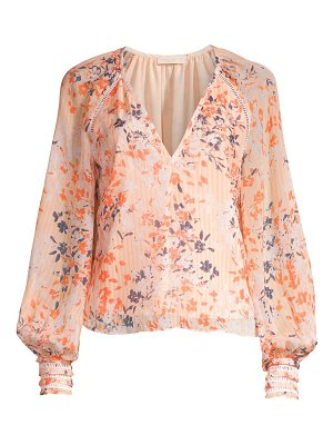 Ramy Brook floral blouson sleeve blouse