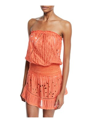 Ramy Brook Kalani Embroidered Strapless Coverup Dress