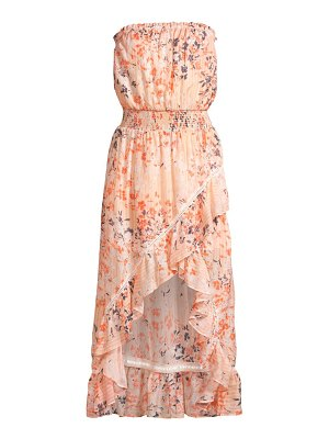 Ramy Brook manon floral print silk high-low midi dress