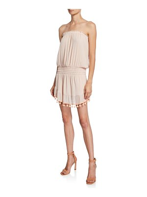 Ramy Brook Marcie Strapless Coverup Dress with Pompoms