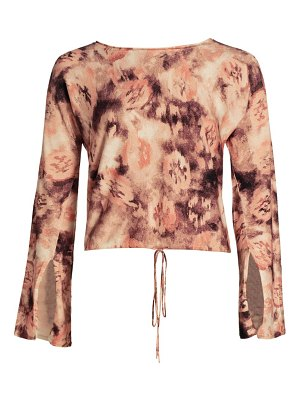 Ramy Brook printed ramsey long-sleeve top