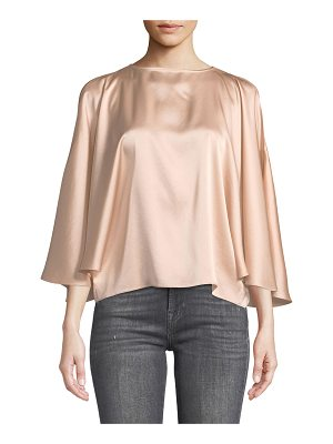 RAMY BROOK Tiffany Satin Cape Blouse