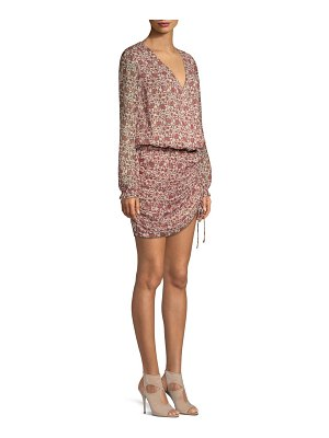 Ramy Brook vina floral silk blouson dress