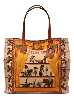 Rani Arabella Circus Medium Canvas Beach Tote Bag