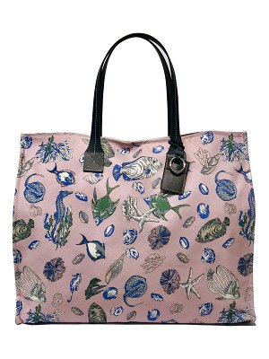 Rani Arabella Fish-Print Canvas Shopper Tote Bag