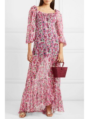 Raquel Diniz alice floral-print silk-chiffon maxi dress