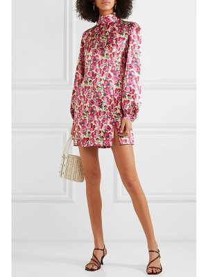 Raquel Diniz elle floral-print silk-satin mini dress