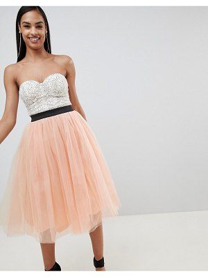Rare london bustier tutu midi dress