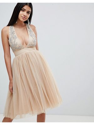 Rare london embellished plunge tutu dress