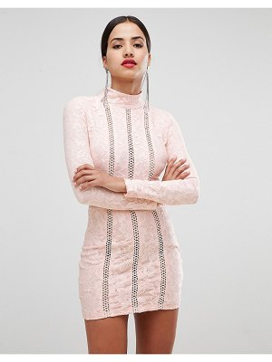 Rare London lace and ladder detail mini dress