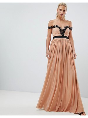 Rare London lace bardot maxi dress