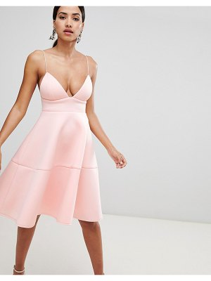 Rare London neoprene midi flare dress