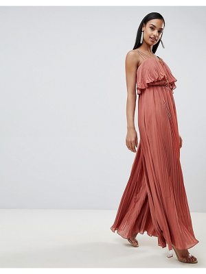 Rare London pleated frill detail jumpsuit