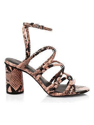 Rebecca Minkoff apolline snakeskin-embossed leather sandals
