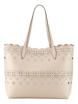 REBECCA MINKOFF Cutout Structured Leather Tote Bag
