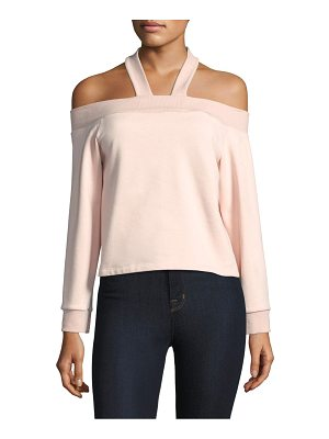 REBECCA MINKOFF Demi Cold Shoulder Sweatshirt