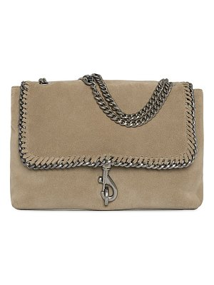 Rebecca Minkoff edie chain-trimmed suede shoulder bag