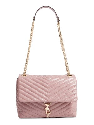 Rebecca Minkoff edie flap front leather shoulder bag