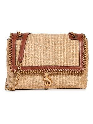 Rebecca Minkoff edie flap shoulder with woven chain strap