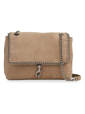 Rebecca Minkoff Edie Suede Woven Chain Flap Shoulder Bag