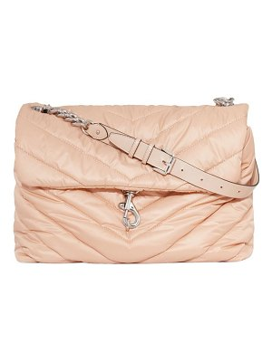 Rebecca Minkoff extra large edie chevron-quilted nylon shoulder bag