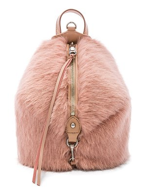 Rebecca Minkoff Faux Fur Mini Julian Backpack