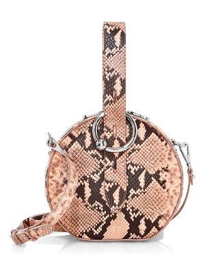 Rebecca Minkoff kate snakeskin-embossed leather circle bag