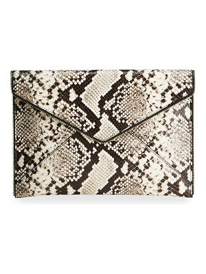 Rebecca Minkoff Leo Python-Embossed Envelop Clutch Bag