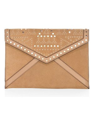 Rebecca Minkoff leo studded leather clutch